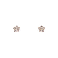 Sterling Silver Mini Diamante Flower Stud Earring