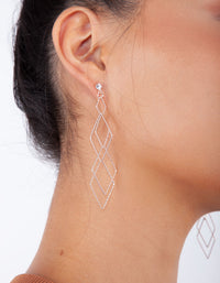 Rose Gold Fine Diamond Diamante Cut Earring - link has visual effect only