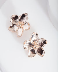 Rose Gold Flower Stud Earring - link has visual effect only
