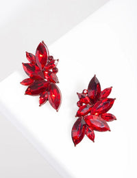 Red Gem Statement Stud Earring - link has visual effect only