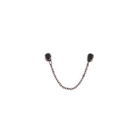 Black Double Diamante Chain Stud Earring - link has visual effect only