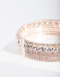 Rose Gold Multi Diamante Arm Cuff - link has visual effect only