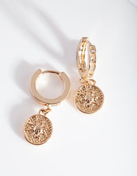 Gold Charm Huggie Earrings - link has visual effect only