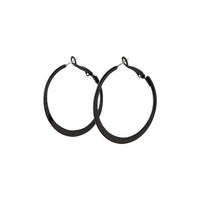 Black Flat Bottom Hoop Earring - link has visual effect only