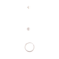 Sterling Silver Ball Ring Nose Ring 3 Pack