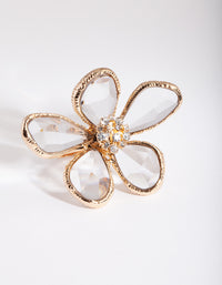 Gold Wire Wrap Flower Ring - link has visual effect only