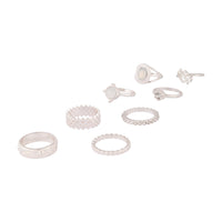 Silver Crosshatch Ring 8 Pack - link has visual effect only