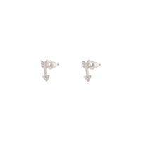Rhodium Arrow Diamante Stud Earring - link has visual effect only