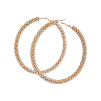 Gold Large Diamante Cup Chain Hoop - link has visual effect only