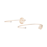 Gold Tree of Life Thin Open Cuff 2 Pack