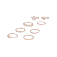 Rose Gold Textured Stone Ring 8 Pack - link has visual effect only