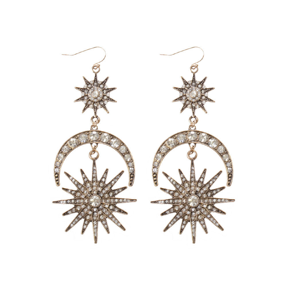 Celestial Crystal Drop Earring