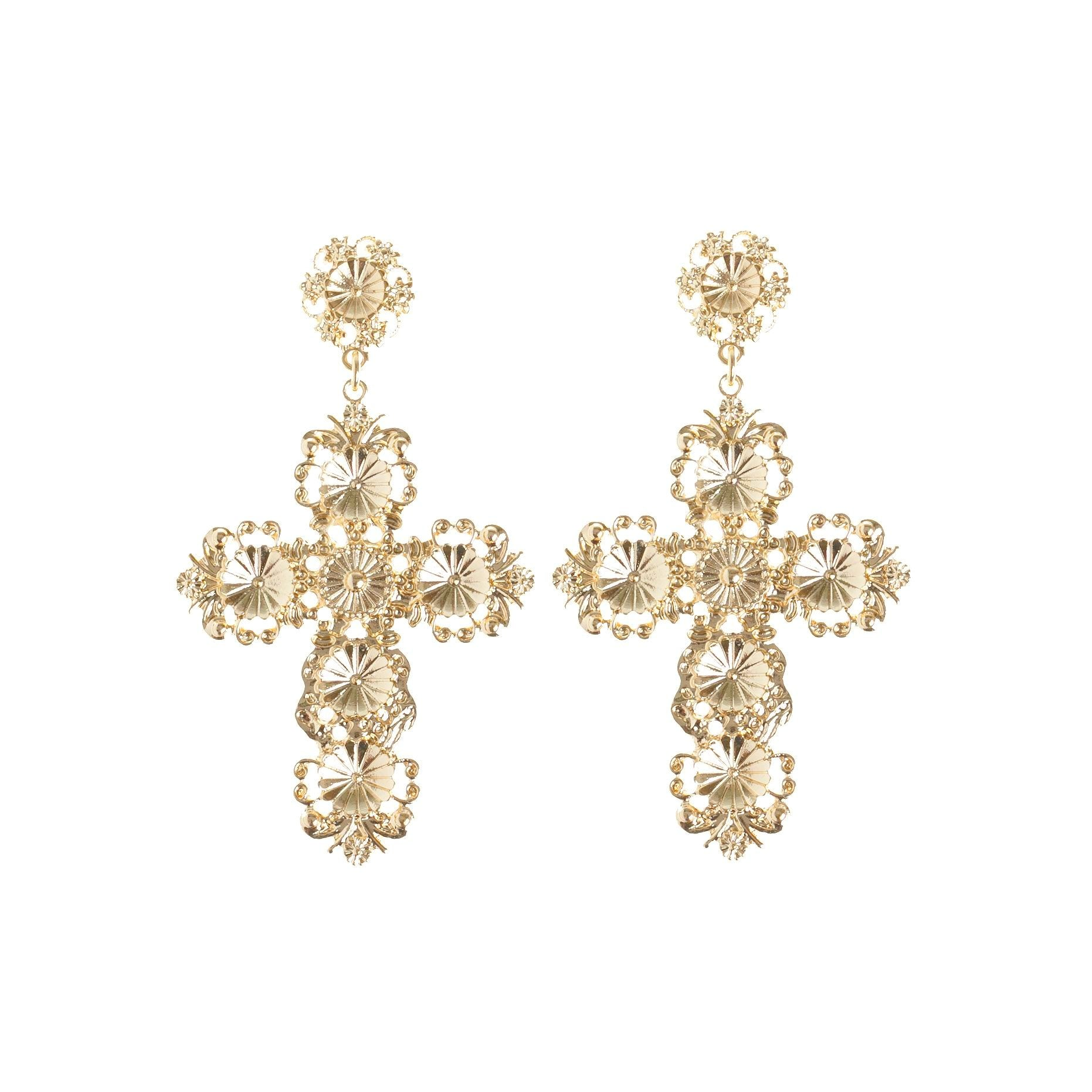 7254e97c8c9a3 Filigree Cross Earring | Lovisa Jewellery Australia