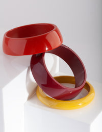 Red Orange Yellow Bangle Set