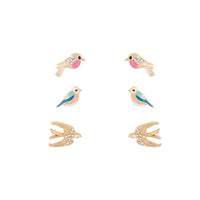 Gold Birds Earring 3 Pack - link has visual effect only