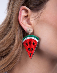 Red Watermelon Slice Earring - link has visual effect only