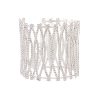 Silver 3D Curve Cup Chain Cuff - link has visual effect only