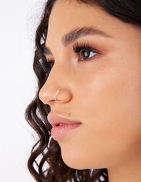 Silver Faux Hoop Body Jewellery - link has visual effect only