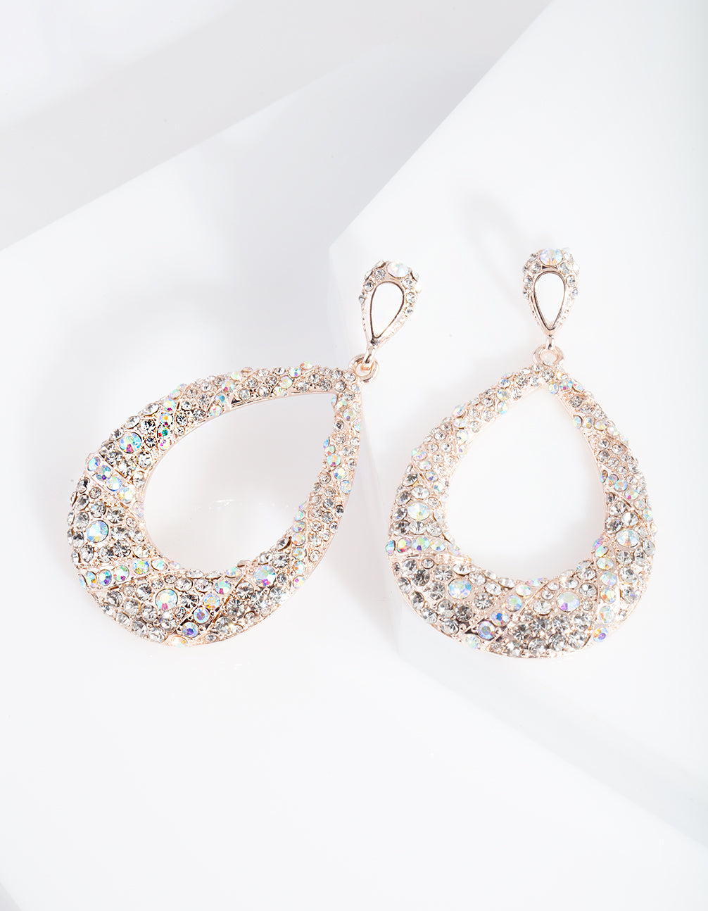 Rose Gold Statement Diamante Earring
