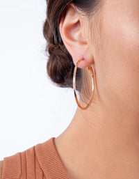 Gold Sleeper Round Hoop Earring 3 Pack