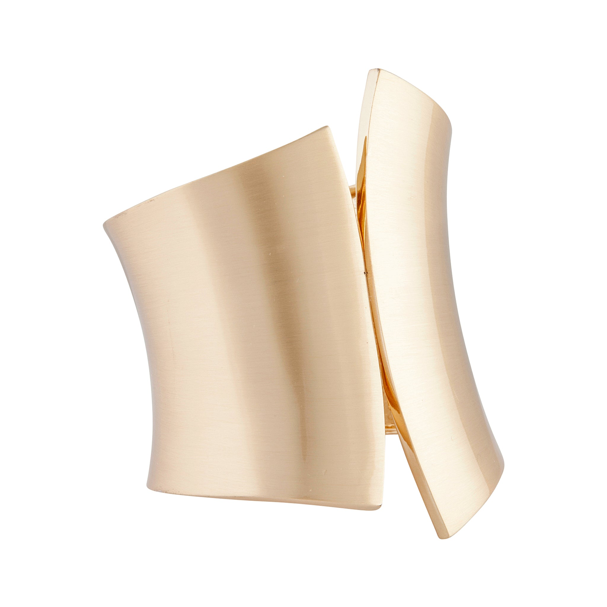 Gold Curved Edge Clamp Cuff