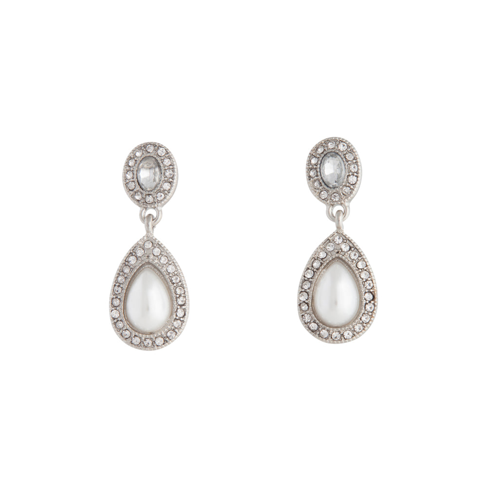 Rhodium Mini Angelina Drop Earring