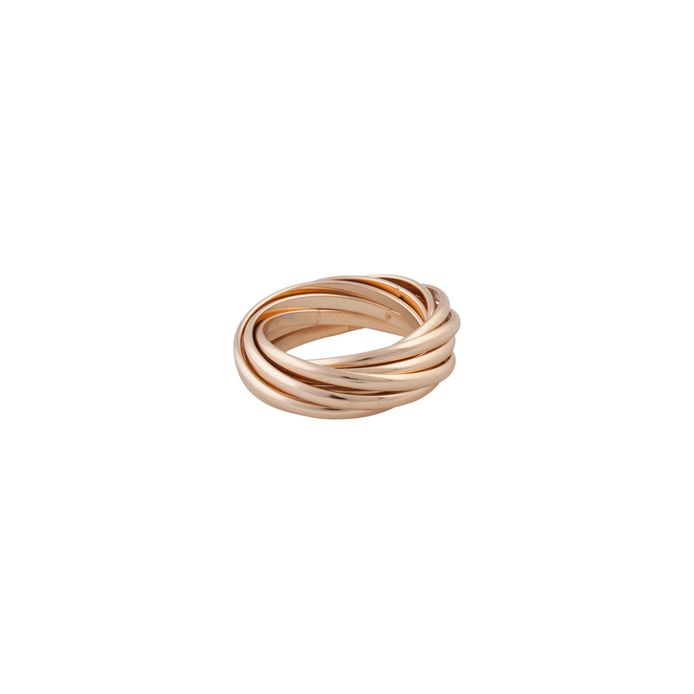 GOLD INTERLOCK RING