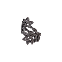 Midnight Black Jewelled Leaf Wrap Ring | Rings | Lovisa Jewellery Australia | Gift Idea Girl