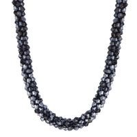 Midnight Navy Cut Out Bead Collar Necklace - link has visual effect only