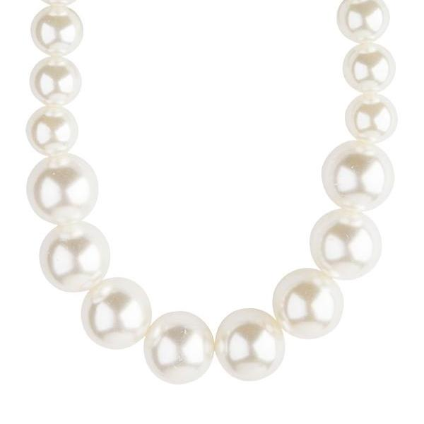 Short Graduating Single Strand Pearl Necklace