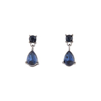 Midnight Blue Gunmetal Small Drop Earring