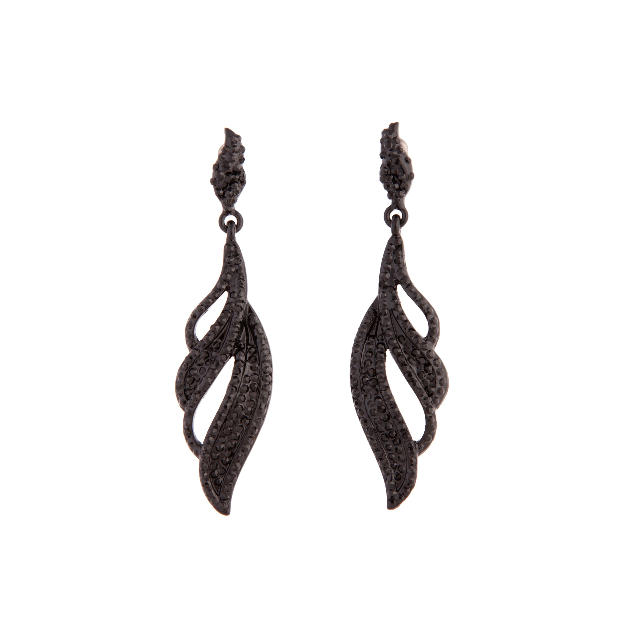 Black Diamante Oscar Earring