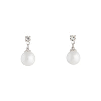 Small Diamante Pearlised Bead Drop Earring - link has visual effect only