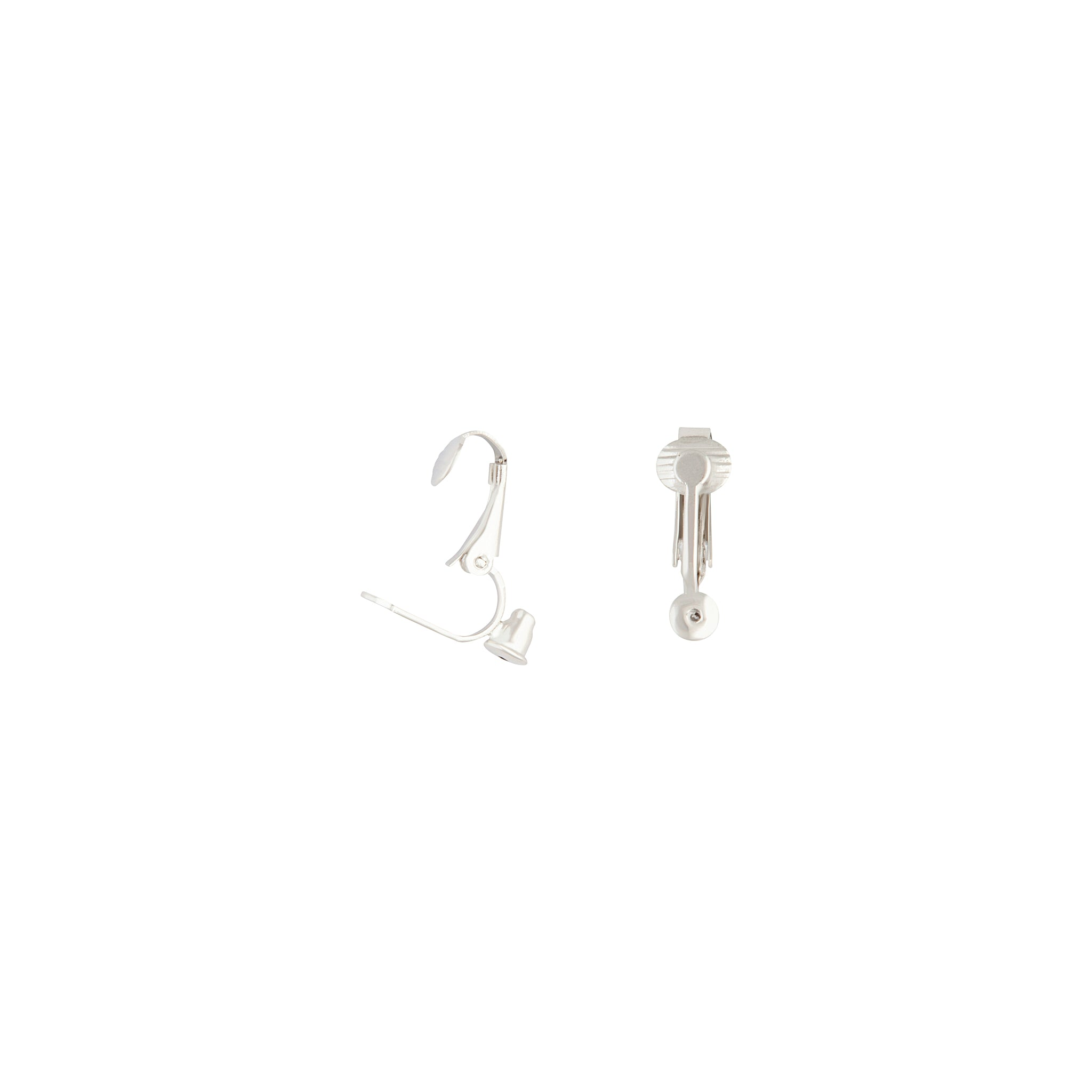 Silver Clip On Stud Earring Converters