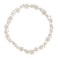 White Flower Pearl Halo Headband - link has visual effect only