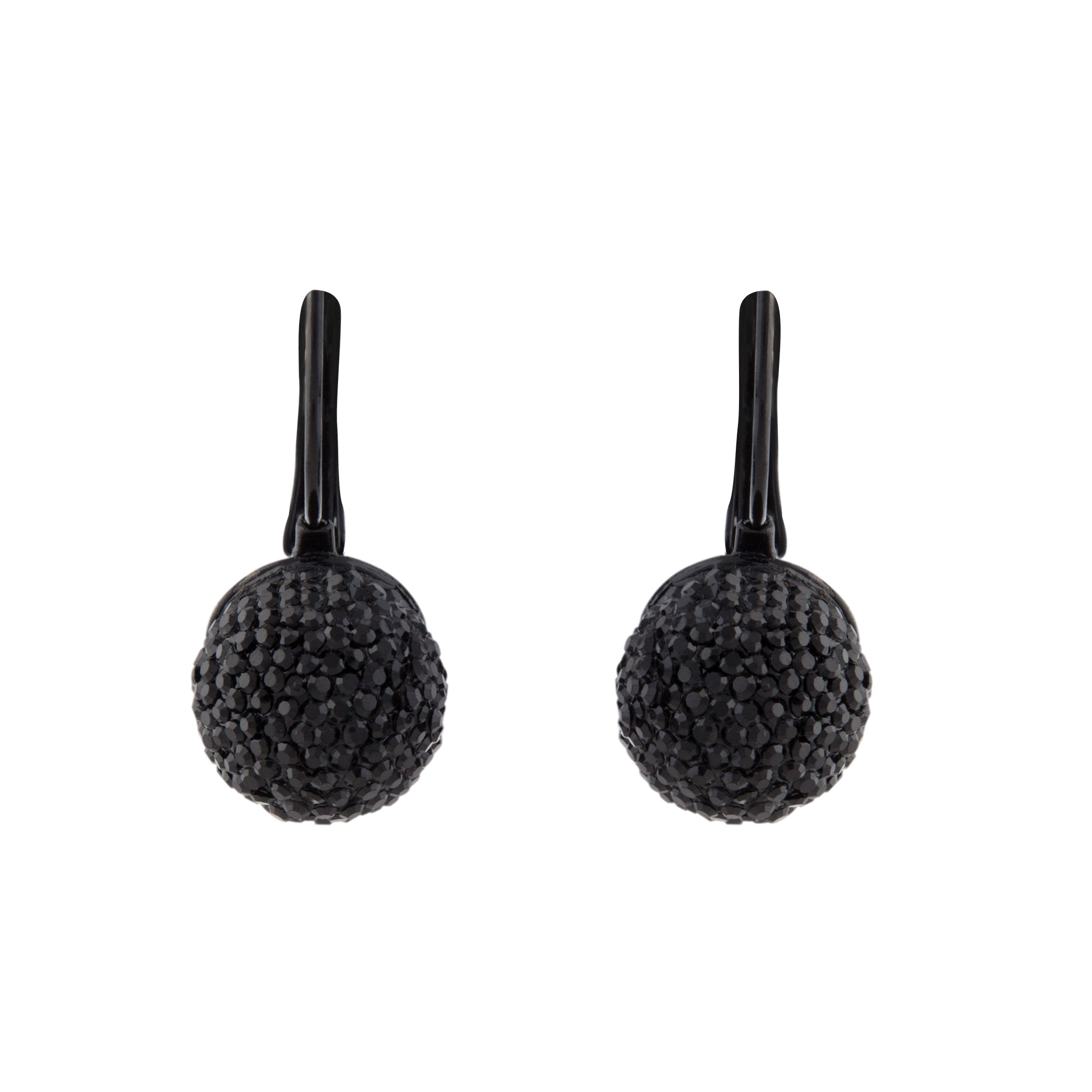 Black Shambala Bead Drop  Earring