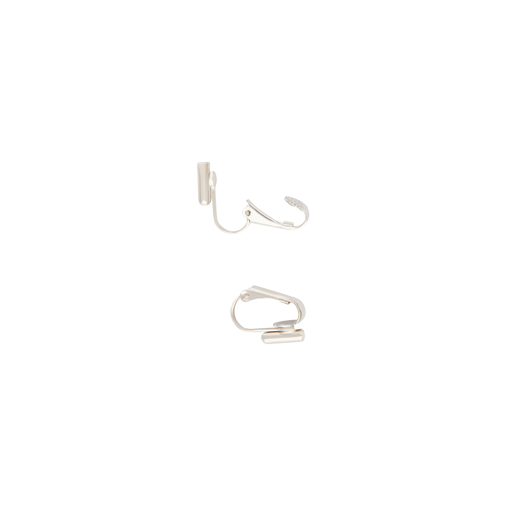 Silver Clip On Vertical Drop Earrings Converters