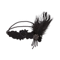 Black Gatsby Feather Headband - link has visual effect only