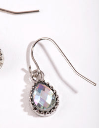 Petrol Effect Teardrop Earrings - link has visual effect only