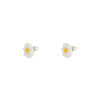 White Daisy Love Stud Earrings - link has visual effect only