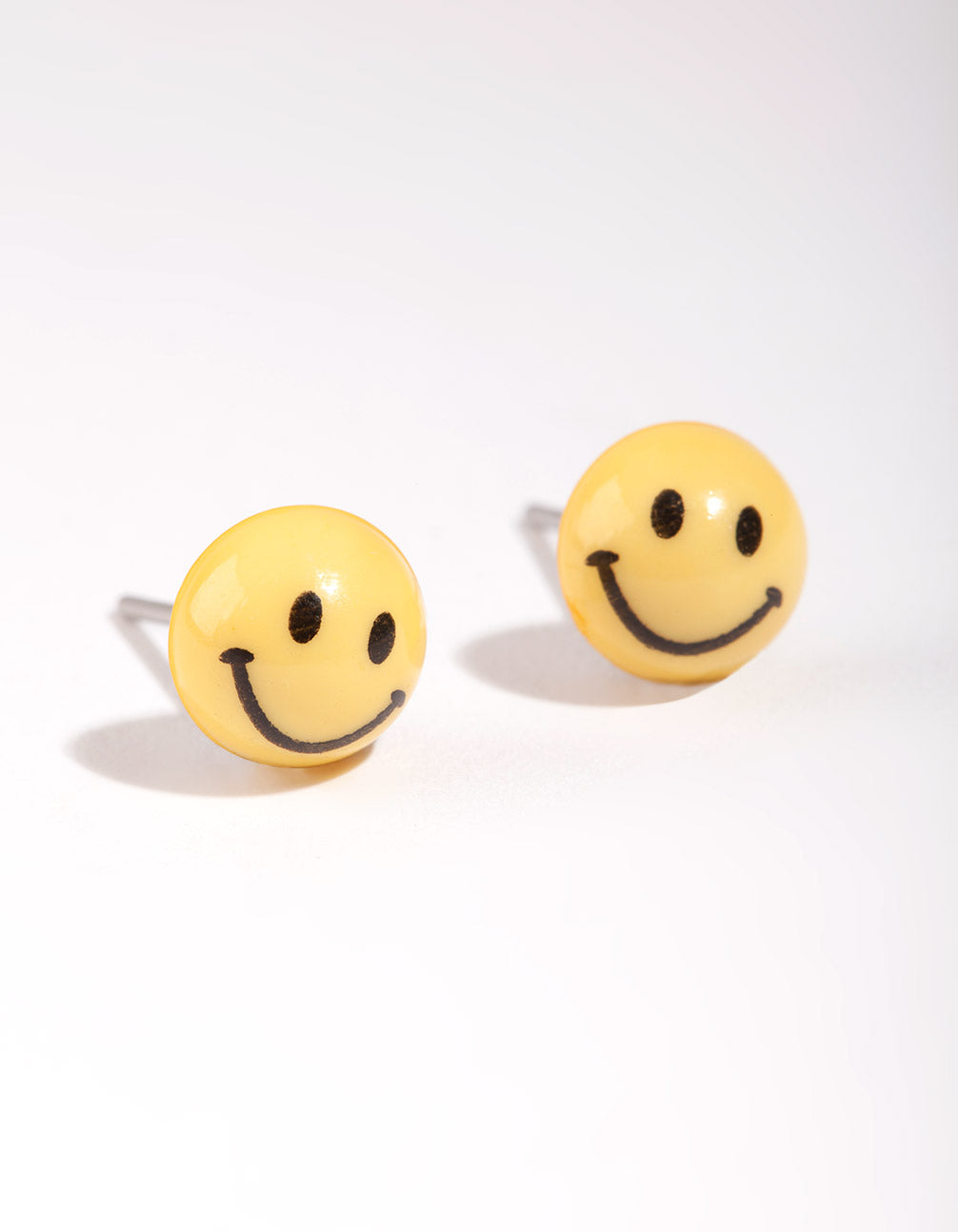 Yellow Mini Smiley Stud Earring