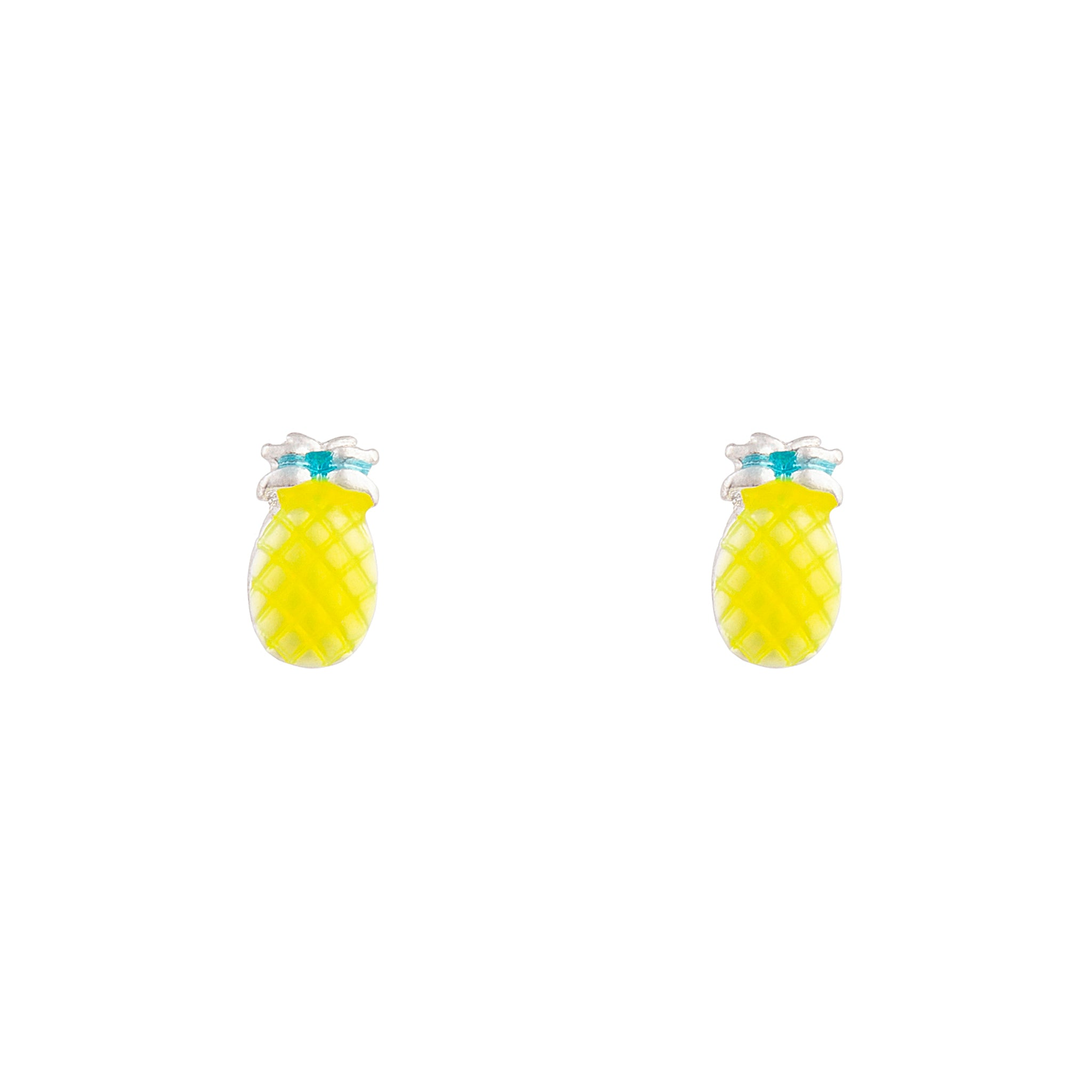 Yellow Bright Pineapple Stud Earring