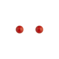 Cracked Red Ball Stud Earring - link has visual effect only