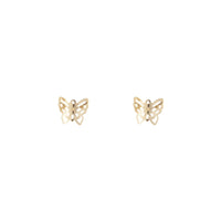 Gold Filigree Butterfly Stud Earring