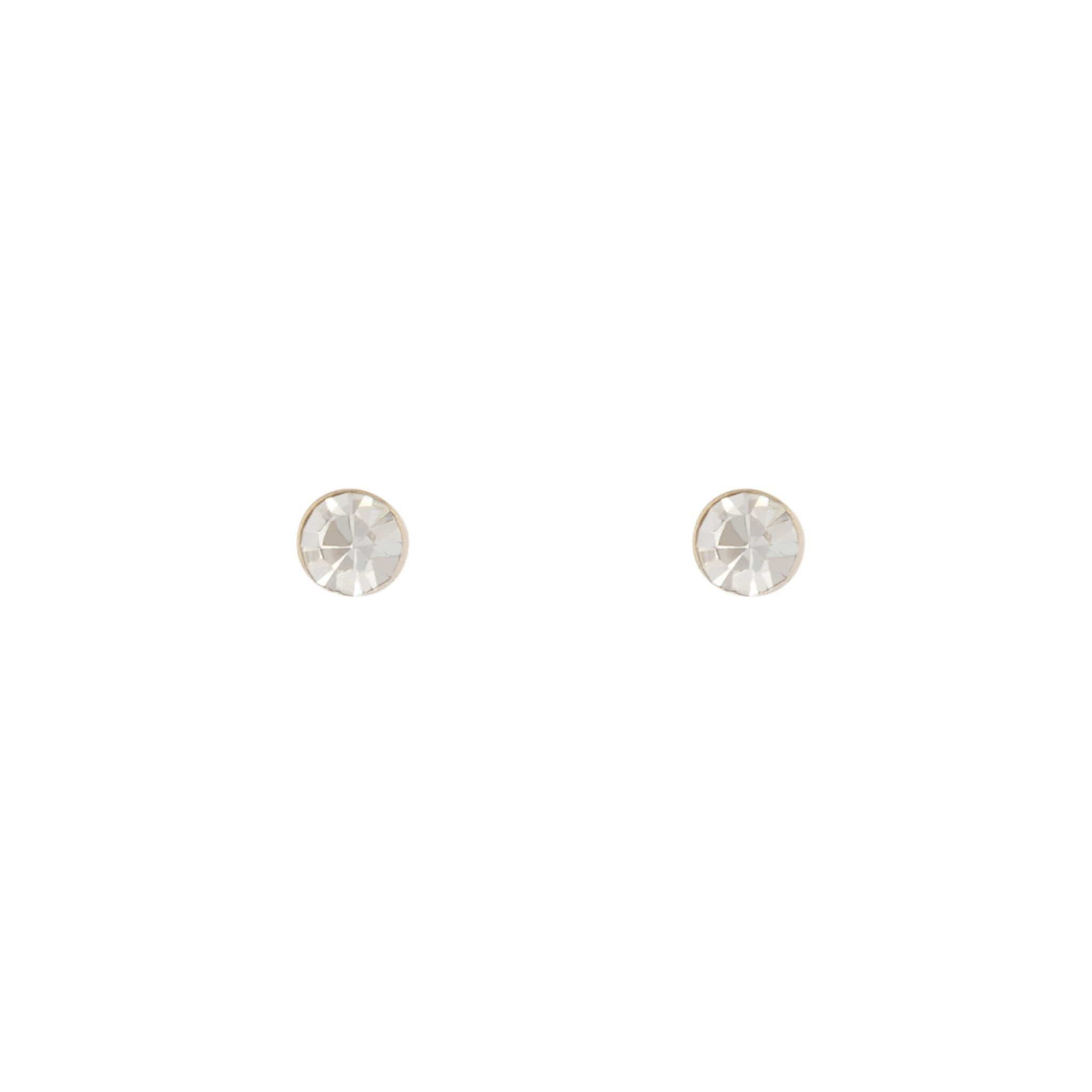 Small Diamante Stud Earrings