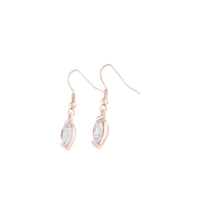 Rose Gold Hook Round Diamante Earring - link has visual effect only