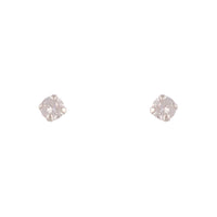 Sterling Silver Cubic Zirconia Round 4mm Stud Earring - link has visual effect only