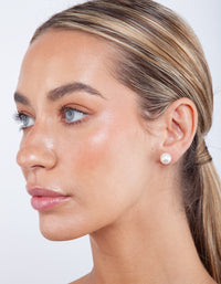 Large Pearl Stud Earrings - link has visual effect only