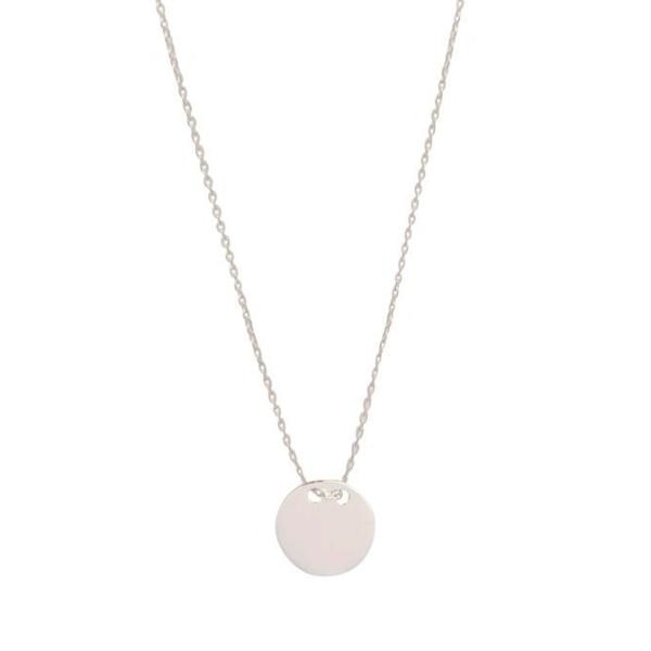 Sterling Silver Engravable Disc Necklace