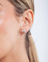 Sterling Silver Polished 8mm Ball Stud Earring